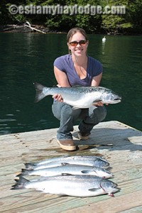 Coho Silver Salmon with Prince William Sound Taxi