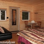 Downstairs Cabin Unit with King bed and Luxury Futon