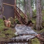 Prince William Sound Rental Cabins rock work