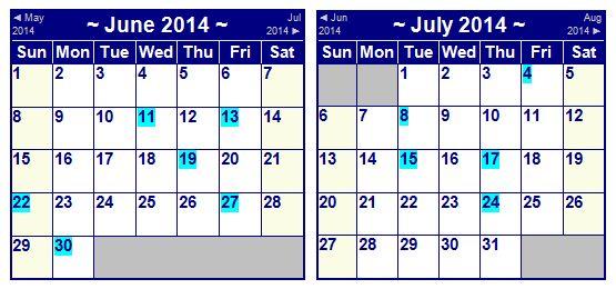 Water Taxi Share Calendar 5-21